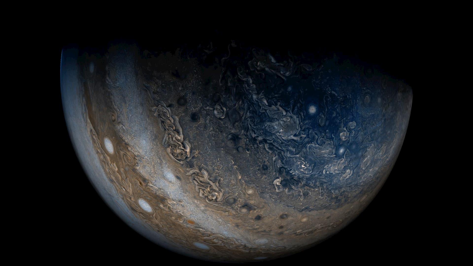 木星の雲や嵐